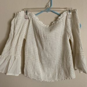 Kandall & kylie off the shoulder 3/4 sleeve